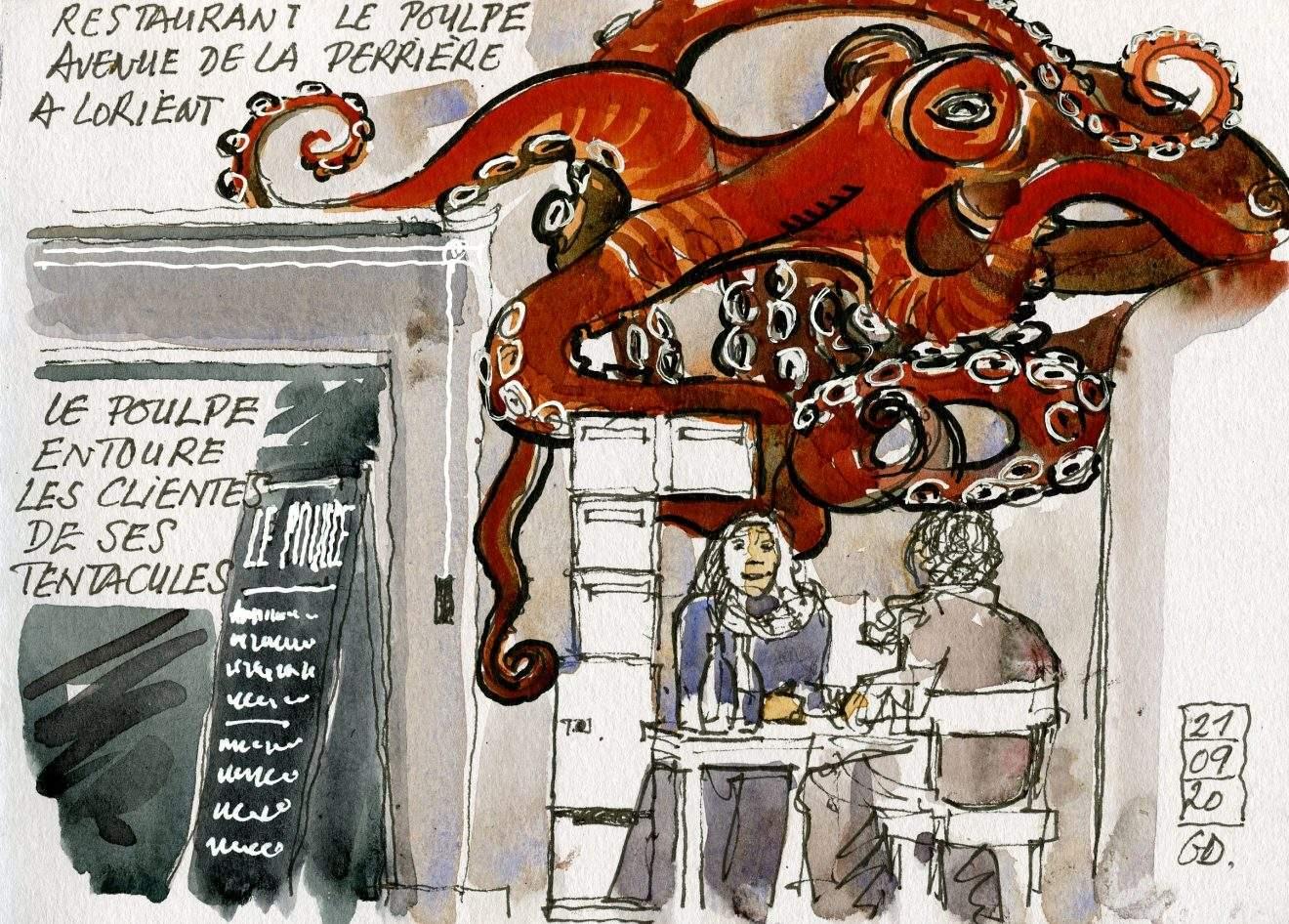 Gerard Darris - Lorient - Restaurant le Poulpe - 21 09 2020